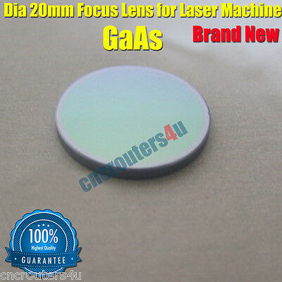 New DIA 20mm GaAs Focus Lens for CO2 Laser Cutter Engraver Machines FL2.5''