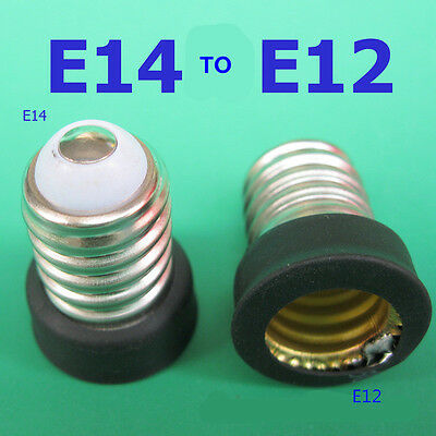 New E14 To E12 LED Bulb Lamp Holder Adapter Socket Converter Light Base