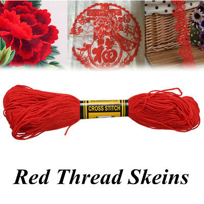 6 Anchor Cross Stitch Cotton Embroidery Thread Floss Skeins Sewing Craft DIY Red