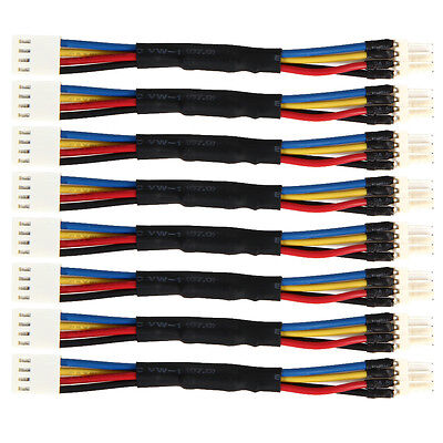 New 8pcs PC Fan Speed Reduce PWM 4 Pin Male to Female Fan Power Adapter Cable