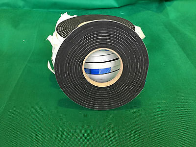 4.5 Metres Long, 15mm x 4.5/5mm Self Adhesive Backed Neoprene/EP Sponge Strip