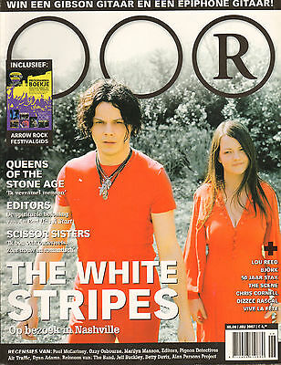 MAGAZINE OOR 2007 nr. 06 - WHITE STRIPES/EDITORS/BJÖRK/QUEENS OF THE STONE AGE