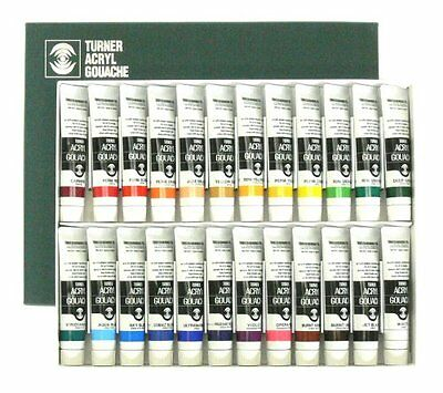 New Turner color acrylic gouache 24 color set 20ml No.6 from Japan