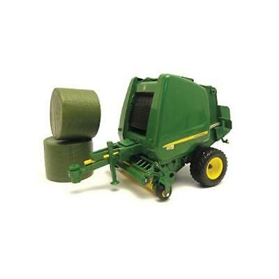 Tomy 42710 Britains Big Farm Toy John Deere 854 Round Baler Tractor Trailer New