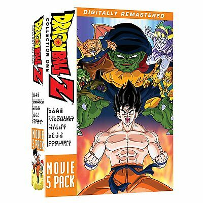 Dragon Ball Z . Movie Pack 1 One . Movies 1 2 3 4 5 . Anime . 5 DVD . NEU . OVP