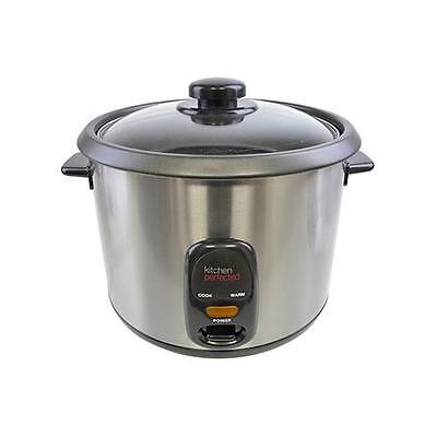 Lloytron E3313 Kitchen Perfected 700W 1.8 Litre Automatic Rice Cooker Steel New