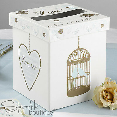 Wedding CARD POST BOX -Gold Vintage Birdcage Design (Receiving Box/Wishing Well)