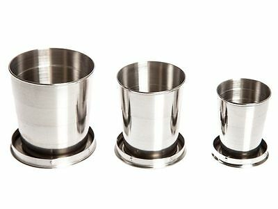 Folding Telescopic Collapsible Metal Camping Hiking Cup