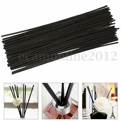 50Pcs 250mm Black Replacement Refill Reed Oil Fragrance Diffuser Sticks Reeds