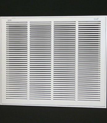 """24w"""" x 20h"""" RETURN FILTER GRILLE - HVAC Dcut Cover - Flat Stamped Face"""
