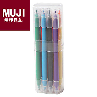 MUJI Water-based Double Ended Calligraphy Color Pen Set 12 Colors/Set Moma New