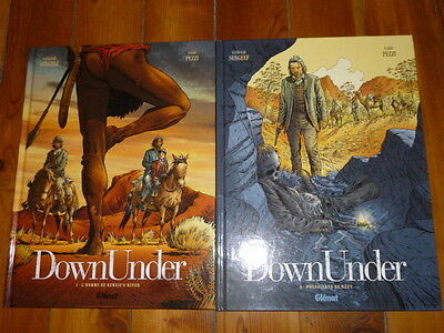 lot de 2 albums BD, tous EO, DOWN UNDER, N°1/2, tous excellent état