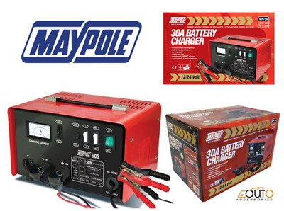 Maypole Heavy Duty Steel 30 Amp 12v/24v Car Van Tractor Battery Charger MP750