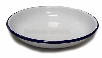 Falcon Enamel Pasta Rice Plate - Traditional White 18cm