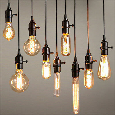 DIY E27 40W Vintage Edison Style Industrial Retro Light Chandelier Ceiling Lamps