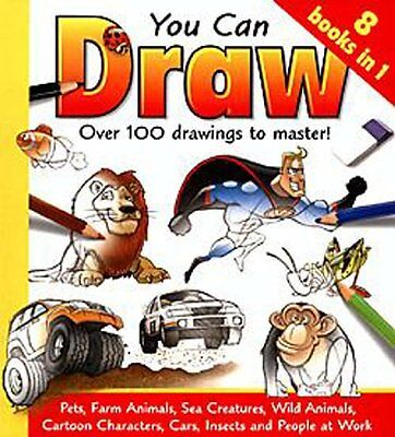 You Can Draw : Over 100 drawings to master. (8 Books in 1) By Damien Toll