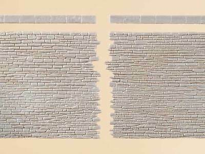 Auhagen 42649 NEW HO 2 STONE WALLS WITH END STONES