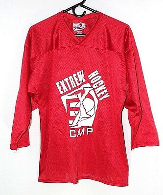 Extreme Hockey Camp Red Jersey #9  Youth Size X-Large 100% Polyester New No tags