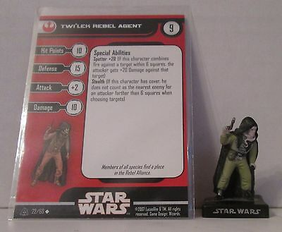 Twi'lek Rebel Agent 22/60 Star Wars Miniatures Minis Alliance And Empires A&E