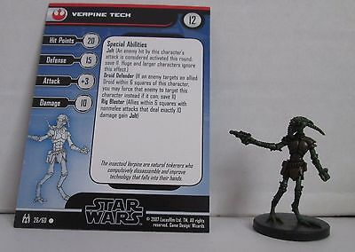 Verpine Tech 26/60 Star Wars Miniatures Minis Force Unleashed
