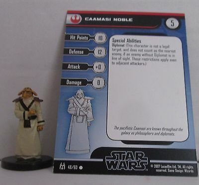 Caamasi Noble 48/60 Star Wars Miniatures Minis Force Unleashed