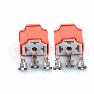 Waterproof H4 HB2 9003 Ceramic Female HID Xenon Bulb 2pcs Terminal Socket Plug