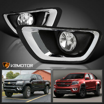 2015-2016 Chevy Colorado Clear Bumper Lights Driving Fog Lamps+H3 Bulb