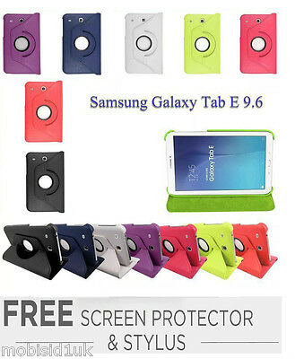 """360 Rotating Flip Leather Stand Case Cover For Samsung Galaxy Tab E 9.6"""" SM-T560"""