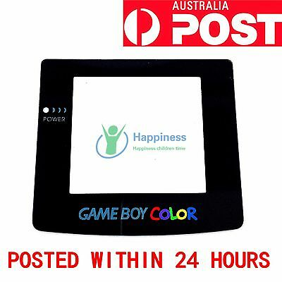REPLACEMENT SCREEN NINTENDO GAMEBOY COLOR GBC Game Boy Colour Lens Adhesive Back