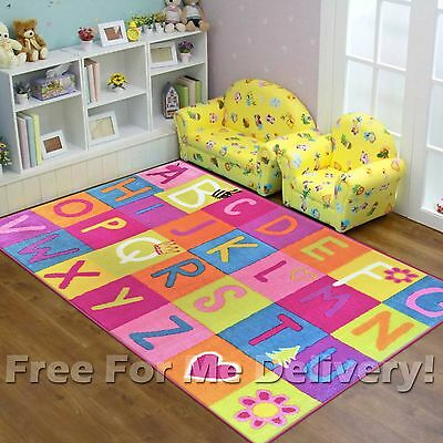 SUPER KIDS ALPHABET LETTERS FUN PLAY RUG (XS) 100x150cm **FREE DELIVERY**