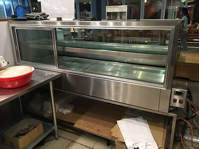 Stainless steel food display 2 level