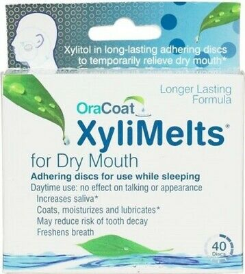 Xylimelts Extra Mint For Dry Mouth - 40 Discs