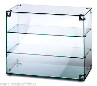 New Heavy Duty Countertop Ambient Glass Sweet Food Display Cabinet Case