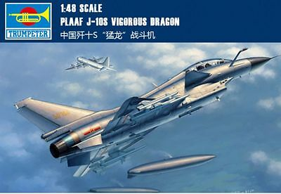 Trumpeter 02842 1/48 PLAAF J-10S Vigorous Dragon model kit