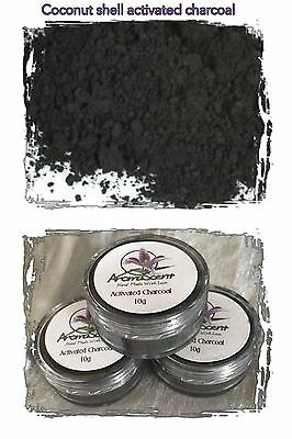 Organic activated charcoal in refillable10g jar - Teeth whitening, stain remover