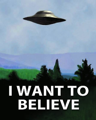 X Files (I Want To Believe Poster) 01 Glossy Photo Print