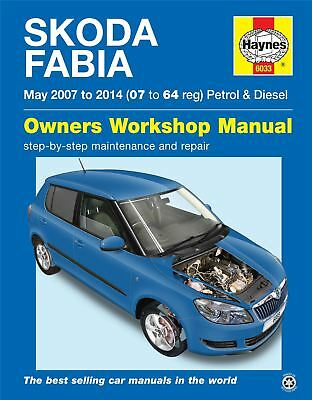 Haynes Skoda Fabia petrol & diesel May 2007-2014 07 to 64 Service Manual 6033