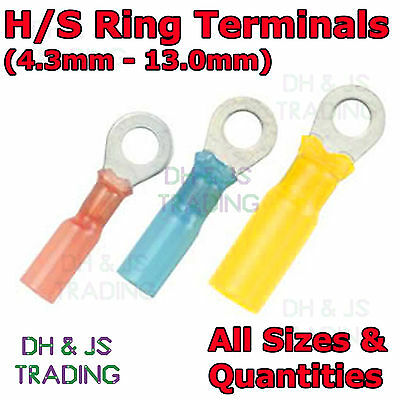 Heat Shrink Ring Terminals - Electrical Heatshrink Connector Eyelet Terminal Eye