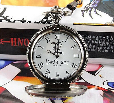 Accessories Anime Retro DEATH NOTE  pocket watch L cosplay Cinnamon Props Bronze