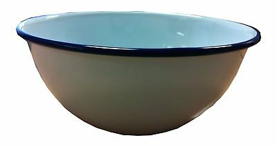 FALCON ENAMEL CAMPING PUDDING SOUP BOWL TRADITIONAL WHITE 16cm FREE SHIPPING
