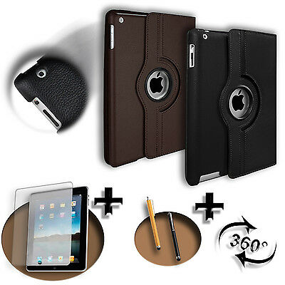 360° Premium Custodia Pelle Per Apple iPad 2 3 4 Air Mini Pro Case Cover +Regalo