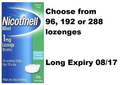 Nicotinell Mint 1mg Nicotine Compressed Lozenges 96, 192 or 288 Quantity Option