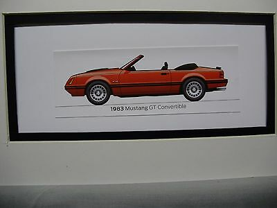 1983  Ford Mustang GT Convertible  From  50 Year Anniversary Exhibit by artist
