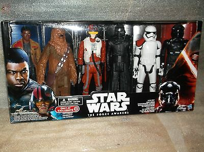 "STAR WARS The Force Awakens Target exclusive 12"" Action Figures 6 pack NISB"