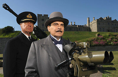 Geoffrey Palmer & David Suchet UNSIGNED photo - P1500 - Poirot