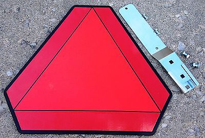 Slow Moving Vehicle Plastic Sign w/BRACKET KIT - Golf Carts,UTV,ATV,Tractors