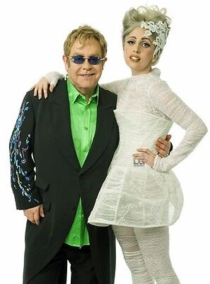 Lady Gaga & Elton John UNSIGNED photo - P1577