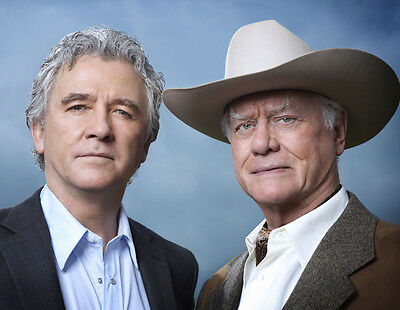 Larry Hagman & Patrick Duffy UNSIGNED photo - P2633 - Dallas