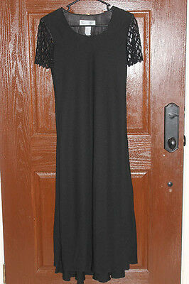 **REDUCED** Ladies Jessica Howard Beaded SS Black Dress Size 6 Prom Formal