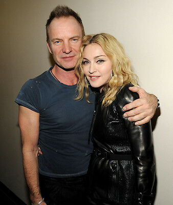 Sting & Madonna UNSIGNED photo - P2779
